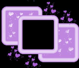 Trio Cadres Violet