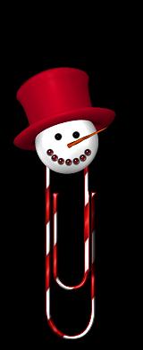 Trombonne avec tete de bonhomme de neige