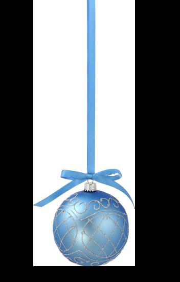 Boule de Noel Bleuté
