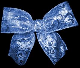 Noeud bleu métalissé
