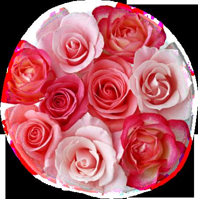 Coeur de Roses rouge et rose
