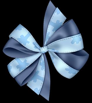noeud double bleu