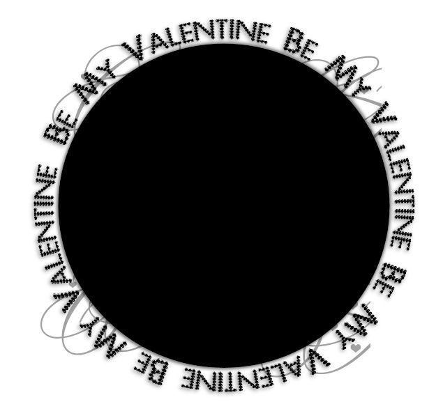 Rond texte saint valentin