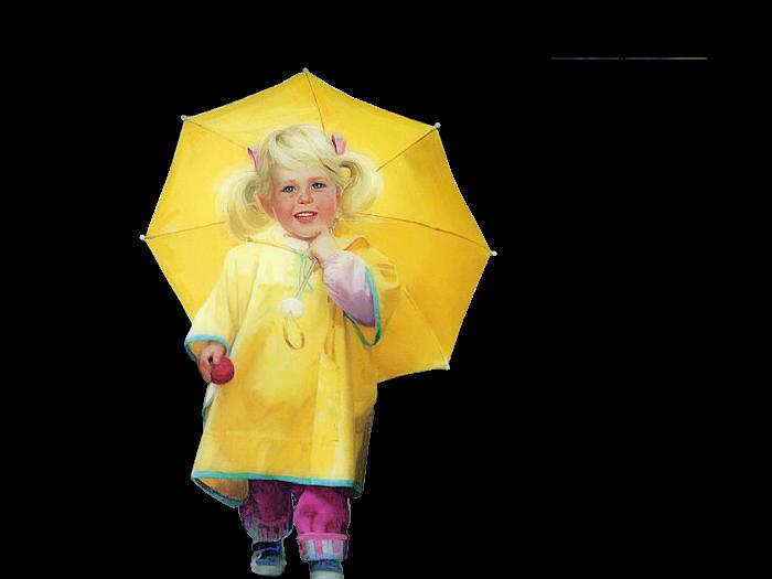 petite fille dans son ciré jaune