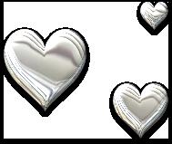 Trio de Coeurs argentés