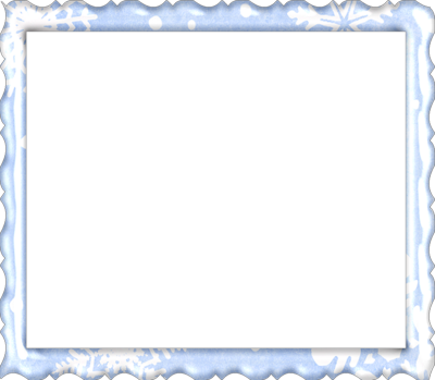 Cadre rectangulaire bleu ciel
